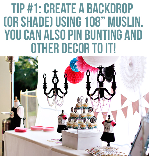 Creating a Backdrop: Lil Blue Boo's Top 10 DIY Party Tips and Behind the Scenes via lilblueboo.com