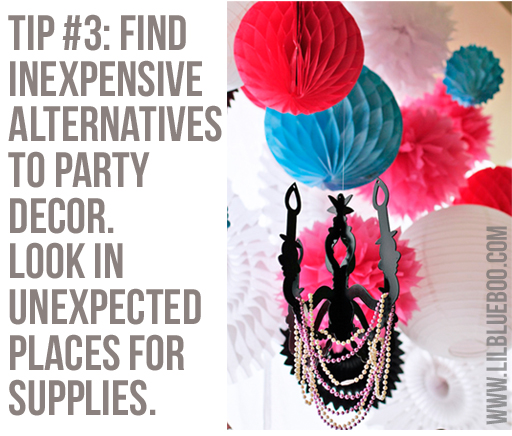 Find Decor in Unexpected Places: Lil Blue Boo's Top 10 DIY Party Tips and Behind the Scenes via lilblueboo.com