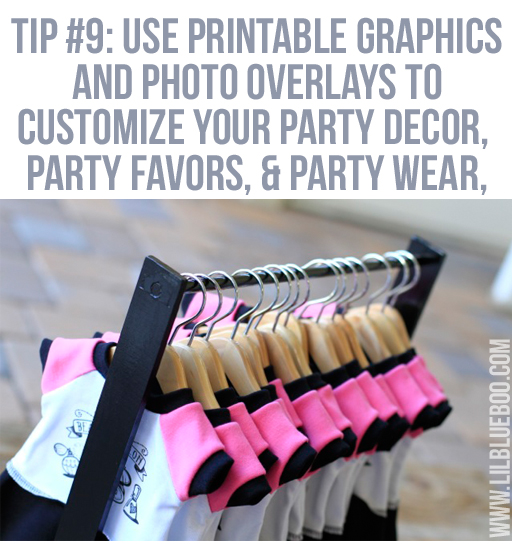 Customize your party decor: Lil Blue Boo's Top 10 DIY Party Tips and Behind the Scenes via lilblueboo.com