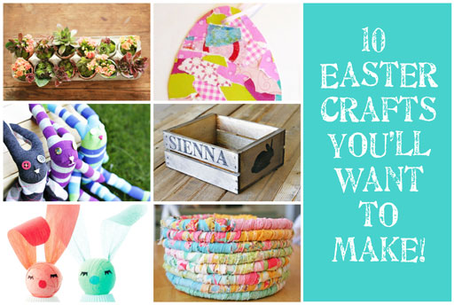 10 DIY Easter Crafts via lilblueboo.com