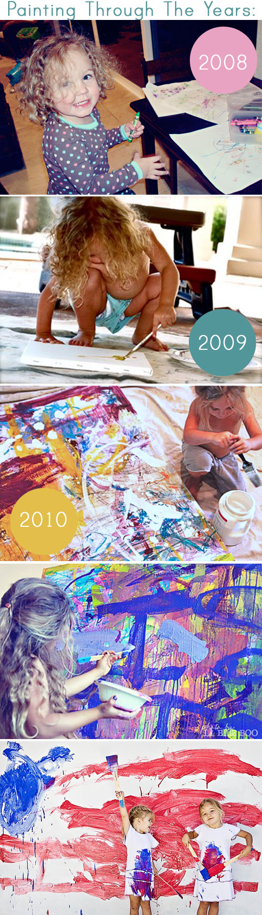 Painting by Boo Hackshaw over the years via lilblueboo.com