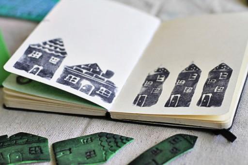 Make your own foam stamps via lilblueboo.com #diy #crafts #tutorial #artjournal