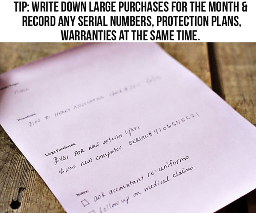 Creating a household inventory via lilblueboo.com