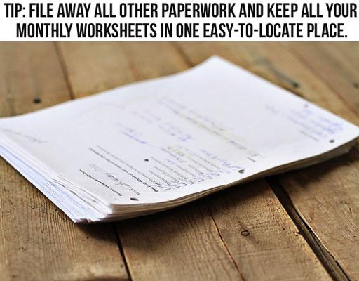 Managing household bills and paperwork via lilblueboo.com