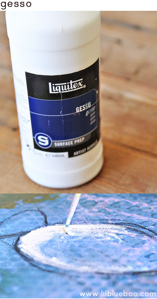 tips for painting with children (gesso) via lilblueboo.com