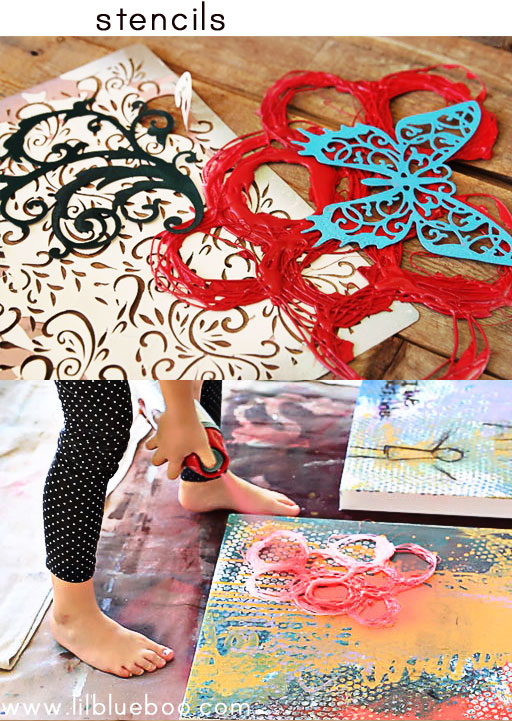 tips for painting with children (stencils) via lilblueboo.com