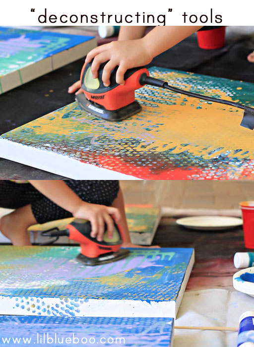tips for painting with children (sander) via lilblueboo.com