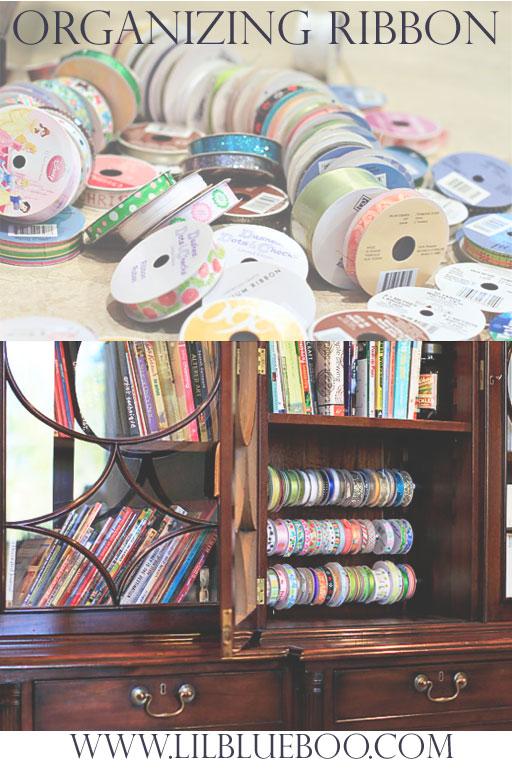 How to organize ribbon, washi tape etc. via lilblueboo.com