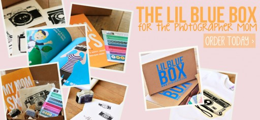 The Lil Blue Box for the Photographer Mom now available! via lilblueboo.com
