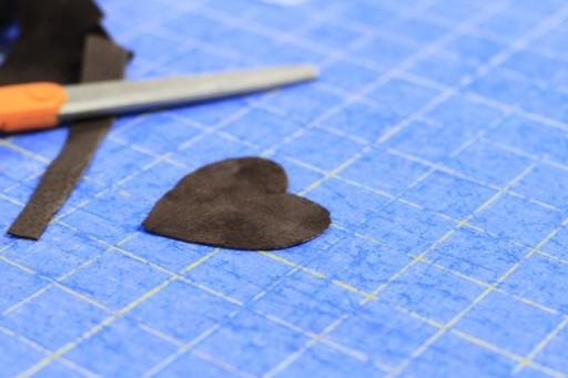 suede or leather heart via lilblueboo.com