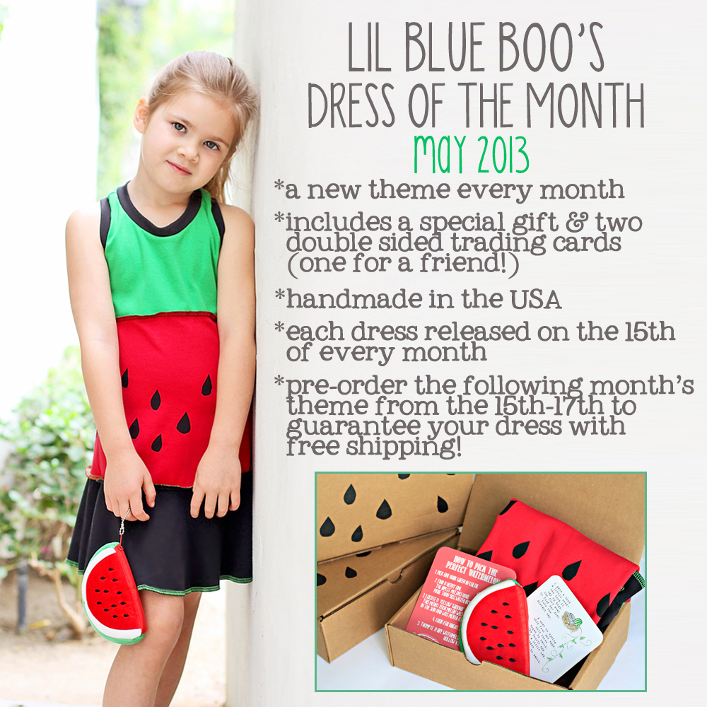 The Lil Blue Boo May Dress of the Month via lilblueboo.com