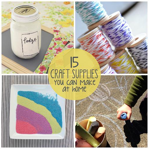 15 Craft Supplies You Can Make at Home via lilblueboo.com