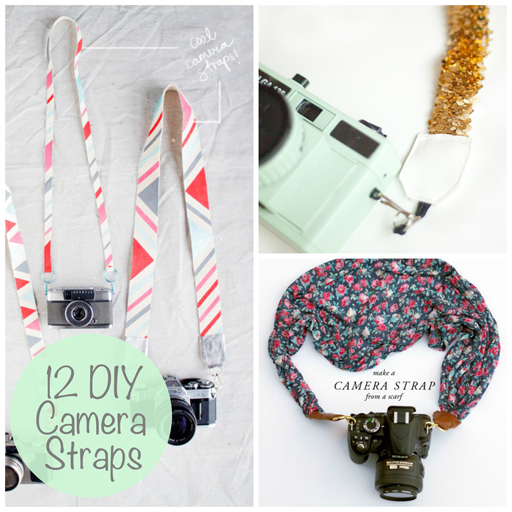 DIY Camera Strap Ideas via lilblueboo.com