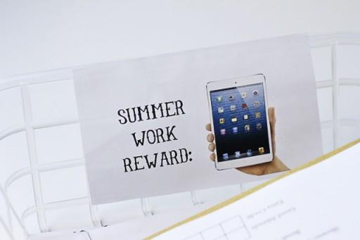 Summer Work Reward via lilblueboo.com