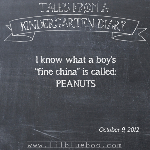 Tales from a Kindergarten Diary Entry: Peanuts #booism via lilblueboo.com
