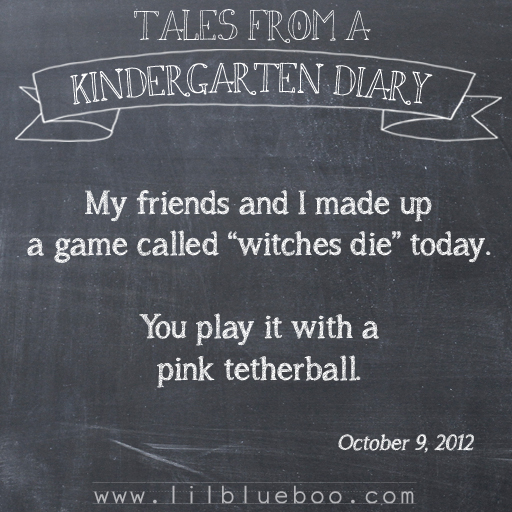 Tales from a Kindergarten Diary Entry: Tetherball #booism via lilblueboo.com