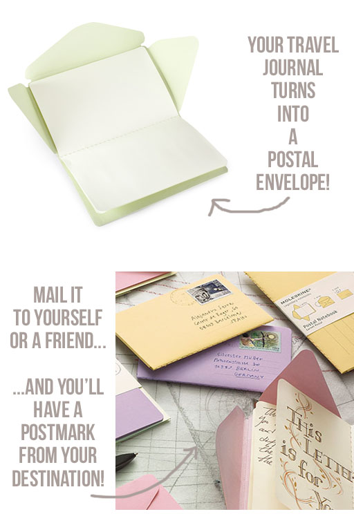 Journals you can mail to yourself or others via lilblueboo.com