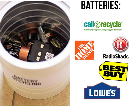 Where to recycle or dispose batteries via lilblueboo.com (links below) #recycle