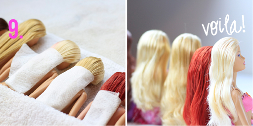 Doll hair detangle tutorial via lilblueboo.com