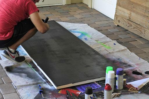 rolling a chalkboard via liblueboo.com