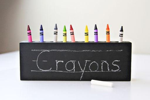 back to school crayon idea via lilblueboo.com