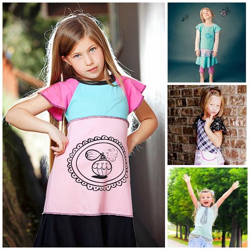 The Flutter Sleeve a la carte option for The Sienna Dress 2.0 via lilblueboo.com