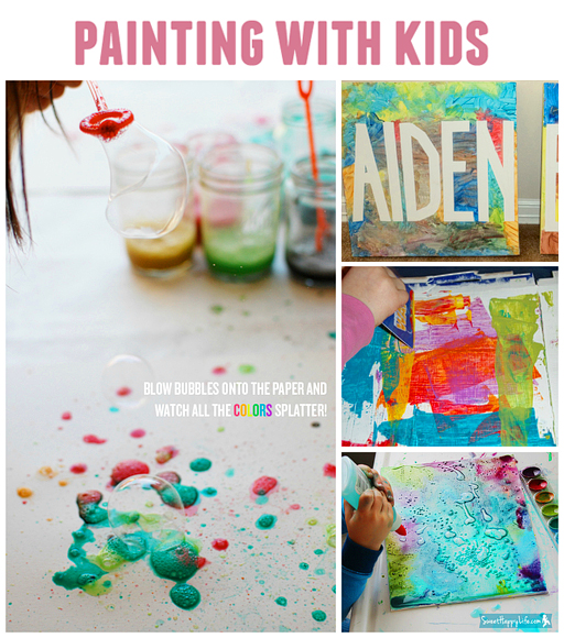10 DIY Painting Activities for Kids via lilblueboo.com