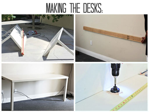 DIY Office Furniture and Desk via lilblueboo.com #decor #office #diy #homedecor #organization #thrifting