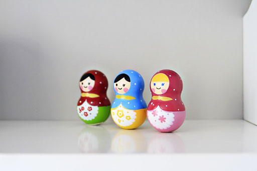 Matryoshka Dolls via lilblueboo.com #decor #office #diy #homedecor #organization #thrifting