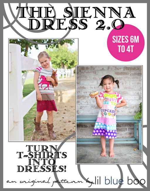 The Sienna Dress 2.0 PDF Sewing Pattern and Tutorial Sizes 6M to 4T via lilblueboo.com