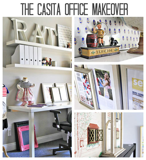 DIY office makeover ideas via lilblueboo.com #decor #office #diy #homedecor #organization #thrifting