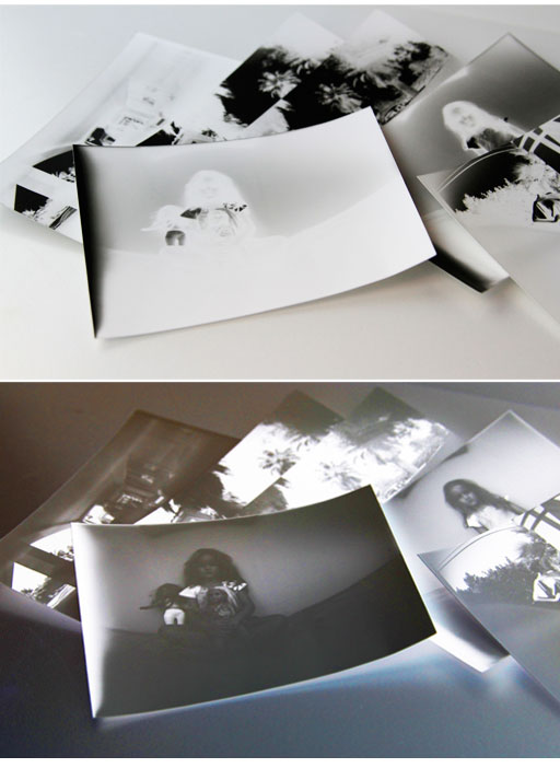 Using photographic paper as film