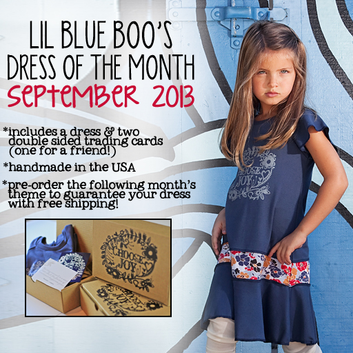 The September 2013 Lil Blue Boo Dress of the Month is here! via lilblueboo.com