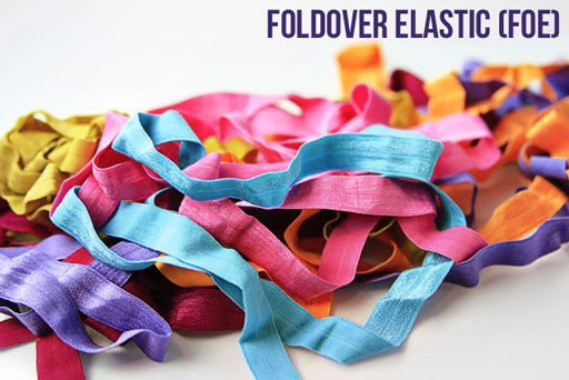 where to buy foldover (FOE) elastic for shoe laces via lilblueboo.com