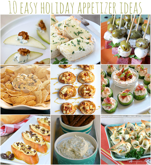 10 Easy Appetizer Ideas for you next Holiday Party via lilblueboo.com