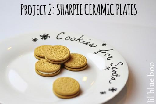 4 Pinterest Party Craft Projects: Sharpie Marker Ceramic Plate via lilblueboo.com #sharpie