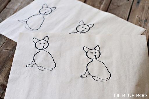 Hand printed paper screen print gift via lilblueboo.com