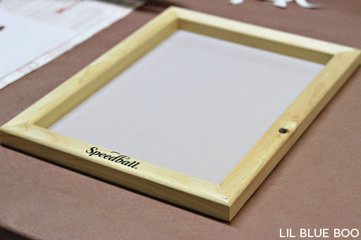 Contact Paper Screen Printing DIY via lilblueboo.com