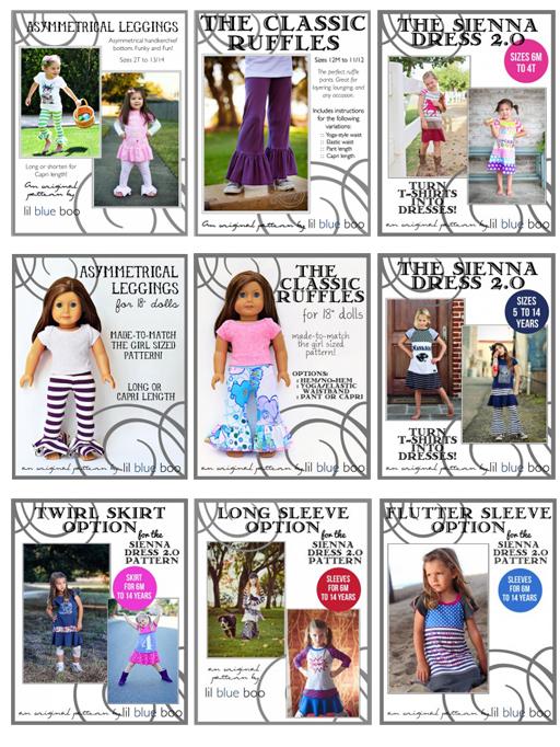 Lil Blue Boo PDF Sewing Patterns Released in 2013 via Ashley Hackshaw / lilblueboo.com