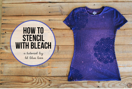 Bleach stencil shirt tutorial Ashley Hackshaw / Lil Blue Boo