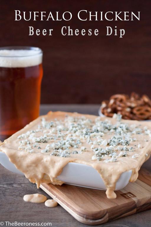 Football Food: Buffalo Chicken Beer Cheese Dip via The Beeroness  | Ashley Hackshaw / lilblueboo.com