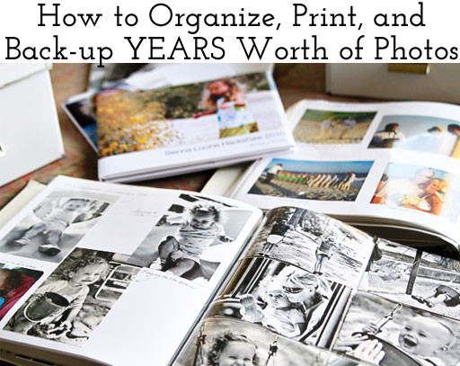 How to Organize and Print Family Photos #photography Ashley Hackshaw / Lil Blue Boo