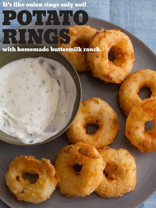 Football Food: Potato Rings via Spoon Fork Bacon  | Ashley Hackshaw / lilblueboo.com