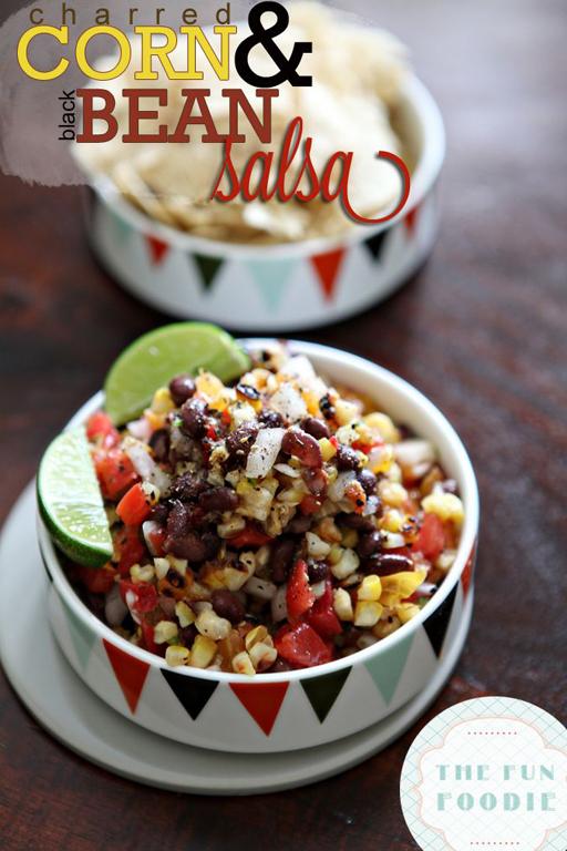 Football Food: Charred Corn and Black Bean Salsa via The Perch | Ashley Hackshaw / lilblueboo.com