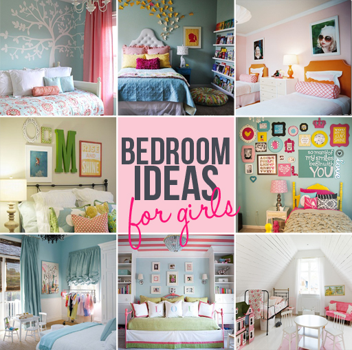 Bedroom Ideas for Girls via Ashley Hackshaw / lilblueboo.com