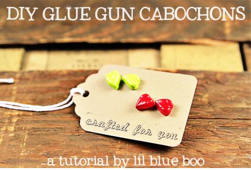 DIY: how to make hotglue resin & cabochons Ashley Hackshaw / Lil Blue Boo