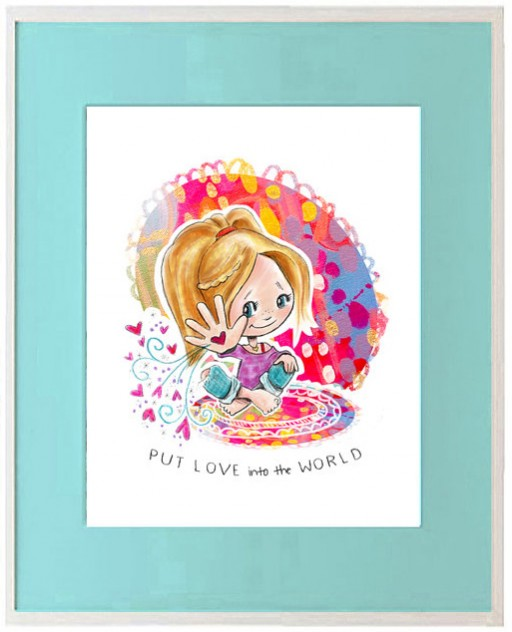 Put Love into the World Art Print for Big Girl Room | Ashley Hackshaw / lilblueboo.com