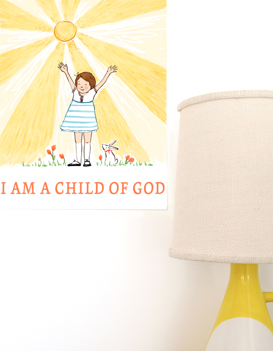 I am a Child of God Art Print for Big Girl Room via Ashley Hackshaw / lilblueboo.com