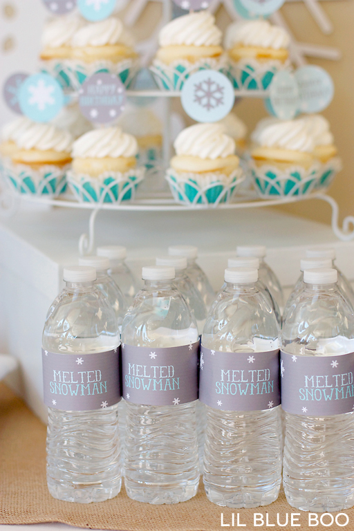 Melted Snowman Water Bottles #frozen Frozen themed party