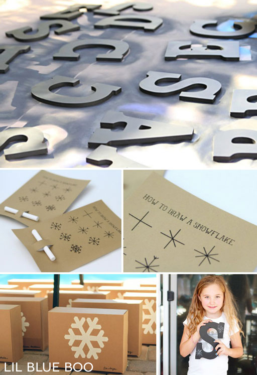 How to draw a snowflake and chalkboard letters #chalkboard #diy for party favors